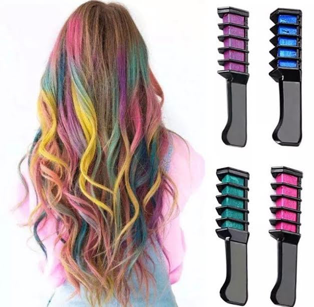 Hair Chalk Comb Temporary Dye