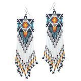 Handmade Beaded Bohemian Tassel Earrings - The Urban Doll