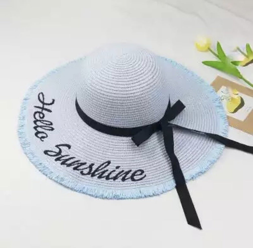 Hello Sunshine Embroidered Straw Hat - The Urban Doll 739032e21d