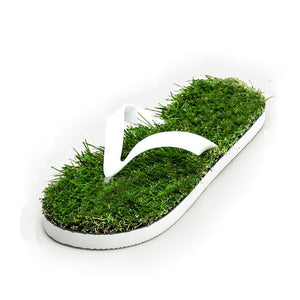 Imitation Grass Unisex Flip Flops - The Urban Doll
