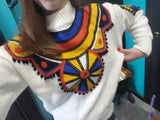 Indie Folk Knitted Pullover Sweater - The Urban Doll