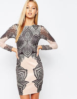 Lacey Bodycon Dress - The Urban Doll