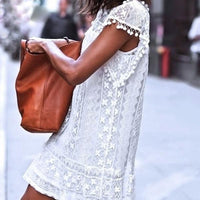 Lace Fringe Dress - The Urban Doll