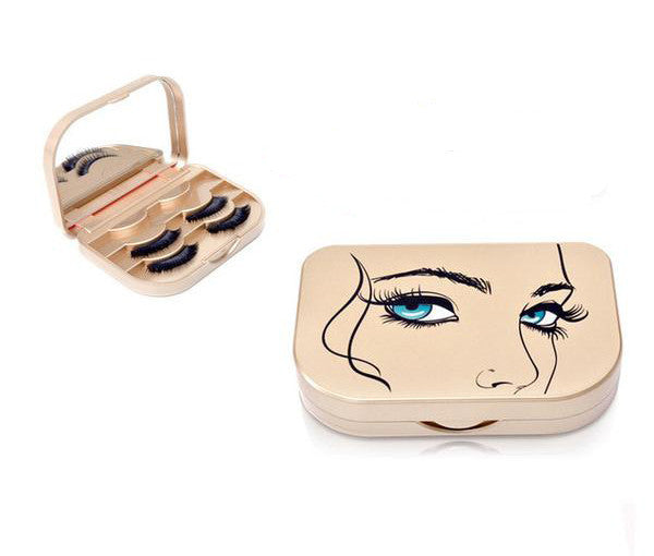 False Eyelash Mirrored Storage Box - The Urban Doll