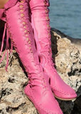 Bohemian Leatherette Moccasin Boots - The Urban Doll