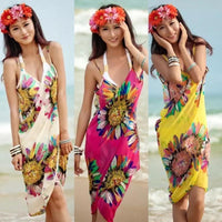 Maui Floral Wrap Beach Cover Up - The Urban Doll