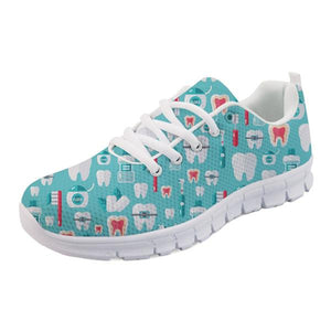 Novelty Printed Comfortable Womens Dental Assistant Shoes - The Urban Doll