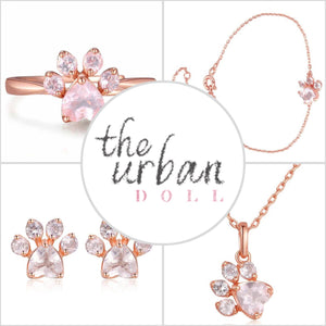 Paw Print Rose Quartz 4 Piece Collection - The Urban Doll