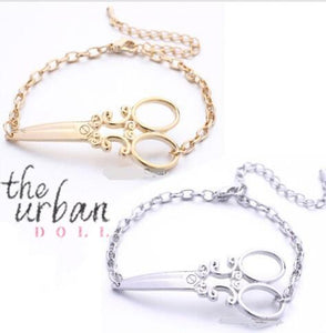 Scissor Charm Bracelet at The Urban Doll