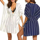 Striped Side Split Beach Cover Up (3 Colors)