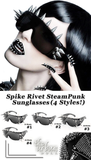 Spike Rivet SteamPunk Sunglasses (4 Styles) - The Urban Doll