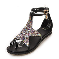 Stargazer Toe Strap Sandals - The Urban Doll
