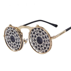 Steampunk Gothic Vintage Clam Shell Sunglasses (16 Styles) - The Urban Doll