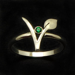 Vegan Vegetarian Symbol Ring - The Urban Doll