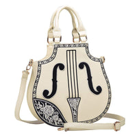 Embroidered Violin Tote - The Urban Doll