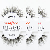 12 pairs! Visofree False Eyelashes 100% Human Hair - The Urban Doll