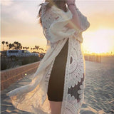 Floral Embroidered Mesh Beach Kimono (6 Colors) - The Urban Doll