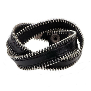 Leather Zipper Bracelet (4 Colors) - The Urban Doll