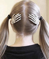 Skeleton Hand Hair Clip Set
