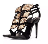 Goddess Gold Leaf High Heel Sandals - The Urban Doll