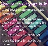 Hair Chalk (Temporary Dye)- 6 Color Set - The Urban Doll