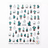 Cactus Nail Art Sticker Decals - The Urban Doll