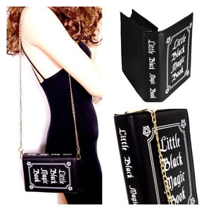 Little Black Magic Book Purse - The Urban Doll