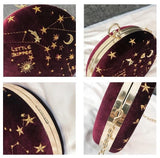 Constellation Sky Velvet Crossbody Purse - The Urban Doll