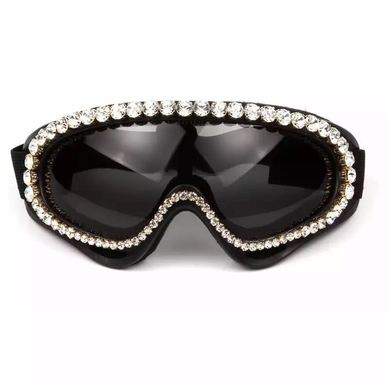 Glitzy Queen Oversized Biker Goggles - The Urban Doll