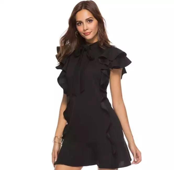 592957be197 Grace Short Sleeve Ruffle Cocktail Dress (7 Colors)