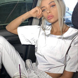 Flash Reflective Cropped Top - The Urban Doll