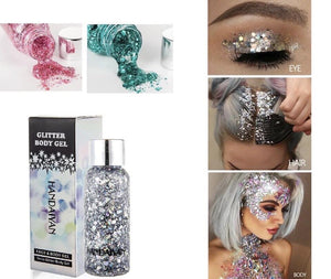 Chunky Holographic Glitter Face and Body Gel (8 Colors) - The Urban Doll