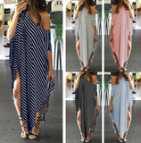 Striped Loose Oversized Kaftan Dress