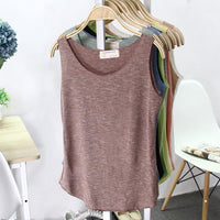 Sleeveless Multicolor Casual Layering Tank Top - The Urban Doll