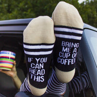 Bring Me Coffee Socks - The Urban Doll