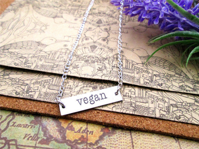 Vegan Tag Pendant Necklace (5 Styles) - The Urban Doll
