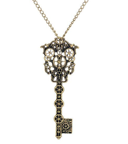 Vintage Skeleton Key Necklace (3 Colors) - The Urban Doll