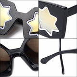 Starburst Cat Eye Oversized Sunglasses - The Urban Doll