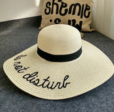 Do Not Disturb Embroidery Straw Hat - The Urban Doll