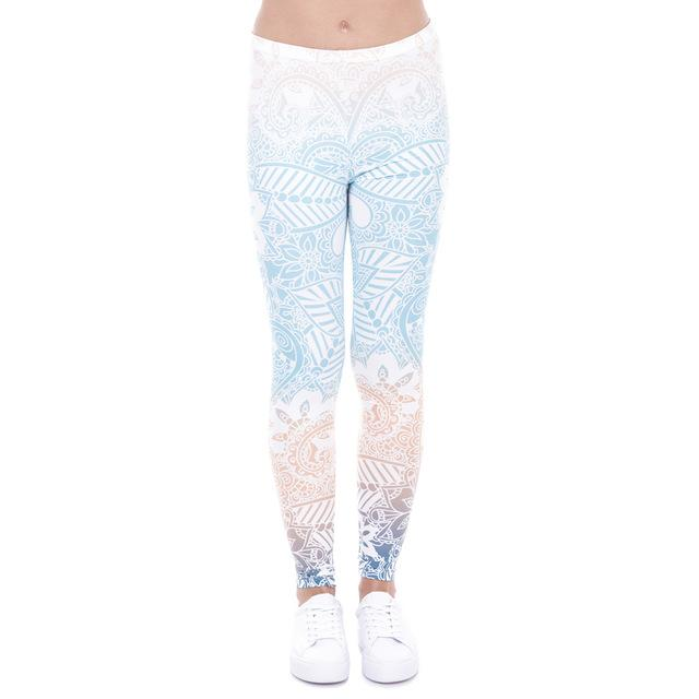 Light Ombre Mandala Leggings - The Urban Doll