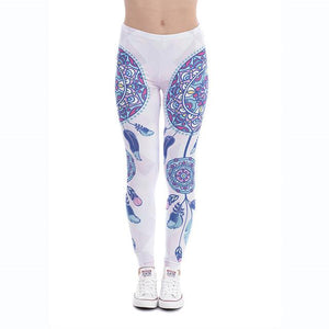 Mandala Feathers Dreamcatcher Leggings - The Urban Doll