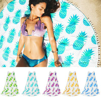Round Pineapple Beach Blanket - The Urban Doll