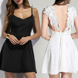 Angel Wings Mini Dress - The Urban Doll
