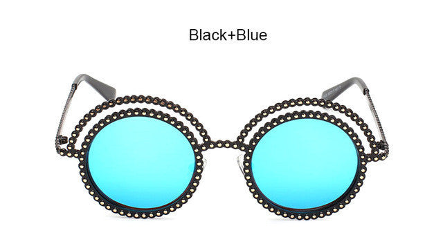 Chain Circular Sunglasses (6 Colors) - The Urban Doll