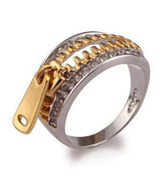 Two Tone Luxury Zipper Ring - The Urban Doll