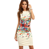 Floral Sheath Dress - The Urban Doll