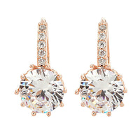Rose Gold Crystal Drop Earrings - The Urban Doll