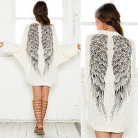 Back Angel Wings Loose Casual Cardigan - The Urban Doll