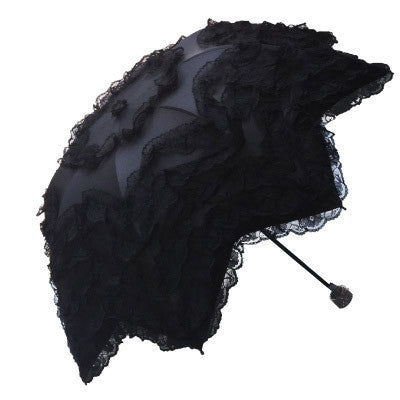 Vaulted UV Vinyl Lace Umbrella (8 Colors) - The Urban Doll