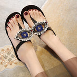 Crystal Evil Eye Jelly Sandals - The Urban Doll